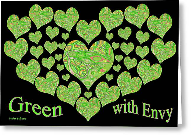 Green With Envy Greeting Card by Marian Bell