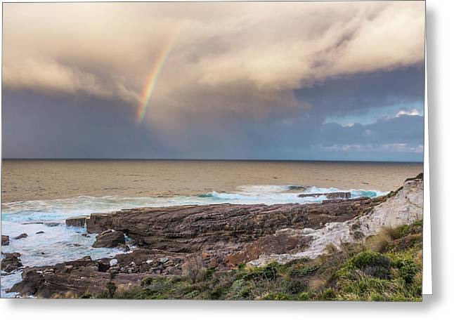 Green Cape Rainbow Greeting Card