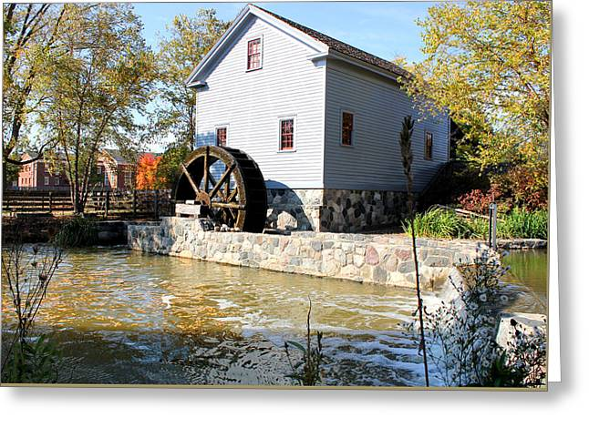 Greenfield Village Stoney Creek Sawmill In Dearborn Michigan Greeting Card by Design Turnpike