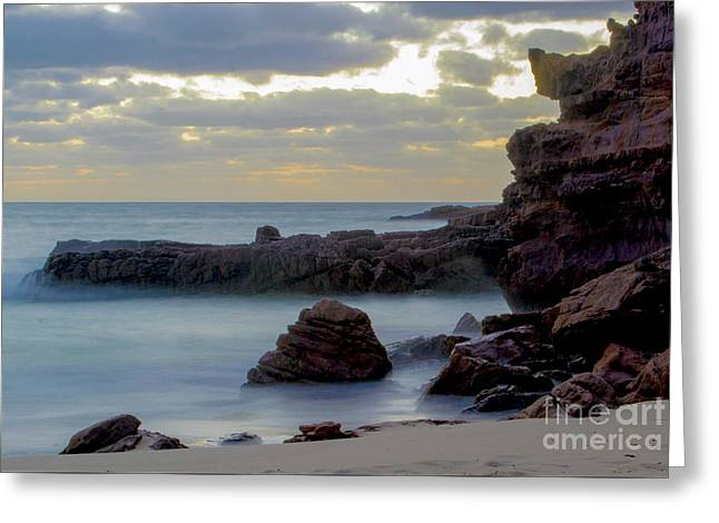 Greeting Card featuring the photograph Greenglades Beach Morning by Angela DeFrias