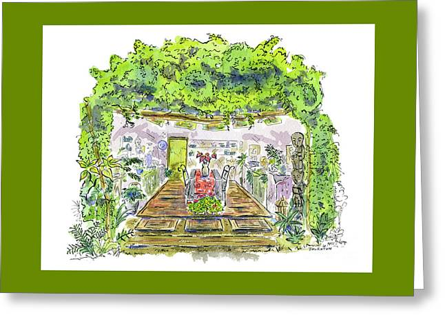 Greenhouse To Volcano Garden Arts Greeting Card