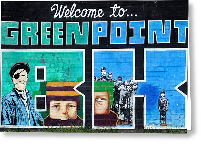 Greenpoint Brooklyn Wall Graffiti Greeting Card by Nina Bradica
