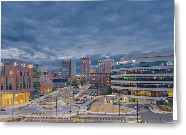 Greeting Card featuring the photograph Greenville Night 1 by David Waldrop