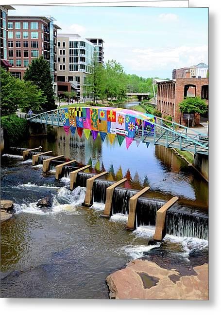 Greenville River Walk Greeting Card