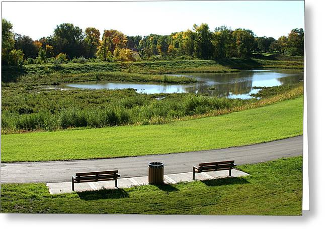 Steve Augustin Greeting Cards - Greenway Greeting Card by Steve Augustin