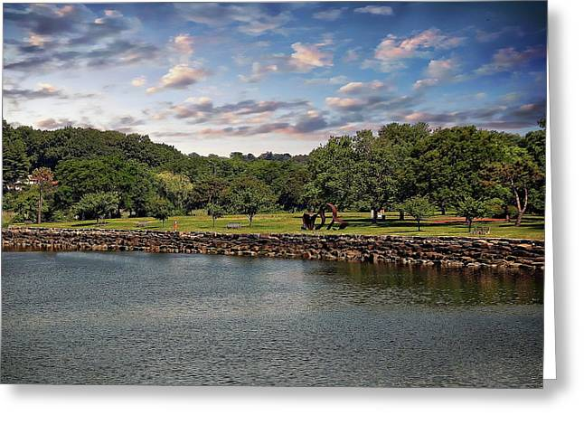 Greenwich City Park Greeting Card