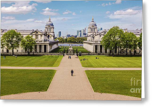 Greenwich Park And The Old Royal Naval College England Greeting Card by Lexa Harpell