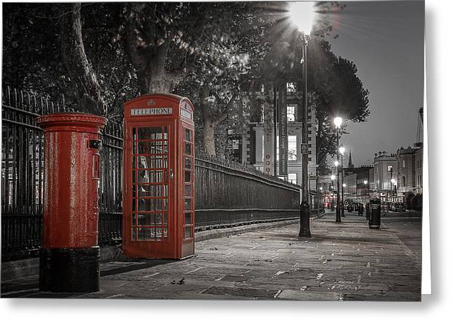 Greenwich Street Greeting Card by Martyn Higgins
