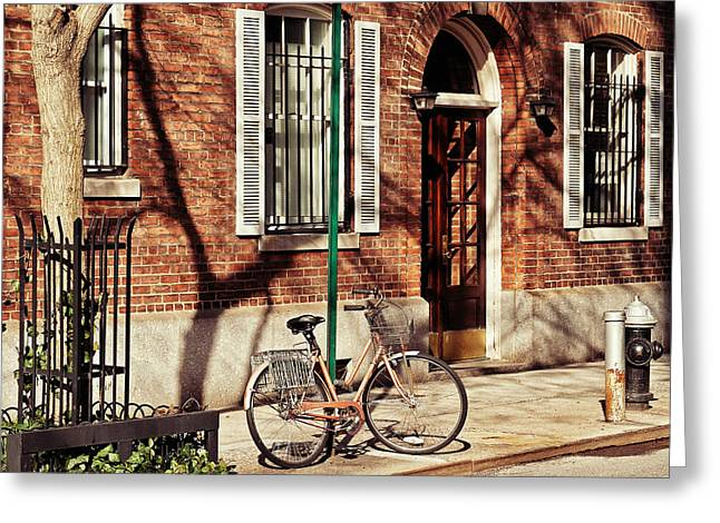 Recently Sold -  - Entrance Door Greeting Cards - Greenwich Village Greeting Card by Benjamin Matthijs