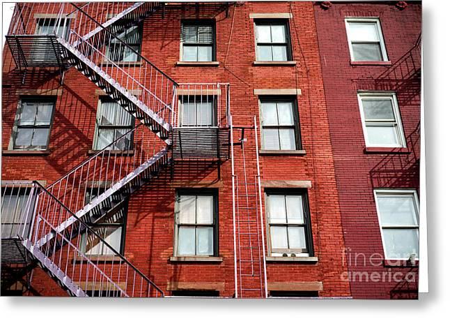 Greenwich Village Brick Design Greeting Card