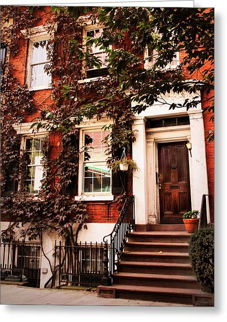 Greenwich Village Charm Greeting Card by Jessica Jenney