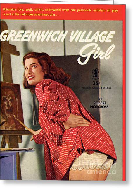 Greenwich Village Girl Greeting Card