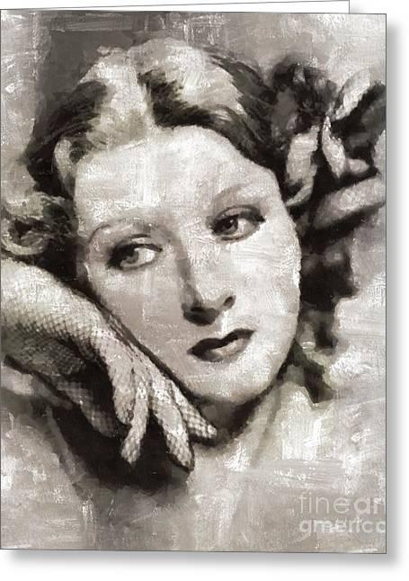 Greer Garson, Actress Greeting Card