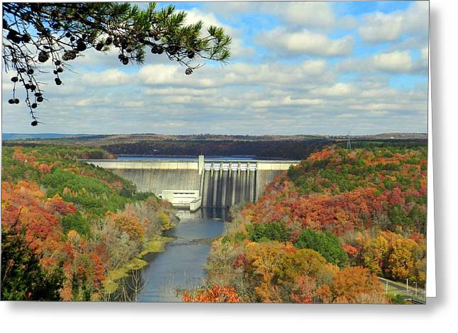 Greers Ferry Dam Greeting Card