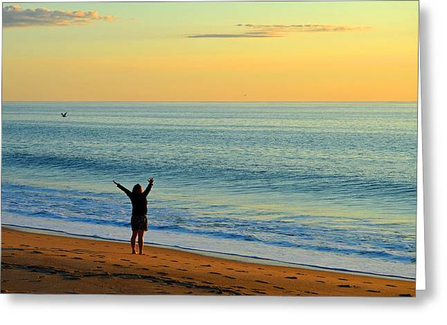 Greeting The New Day Greeting Card by Dianne Cowen