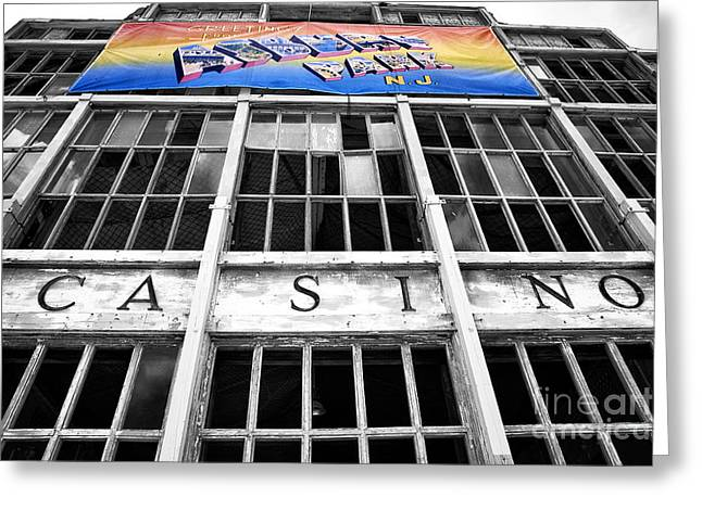 Greetings From Asbury Park Fusion Greeting Card by John Rizzuto