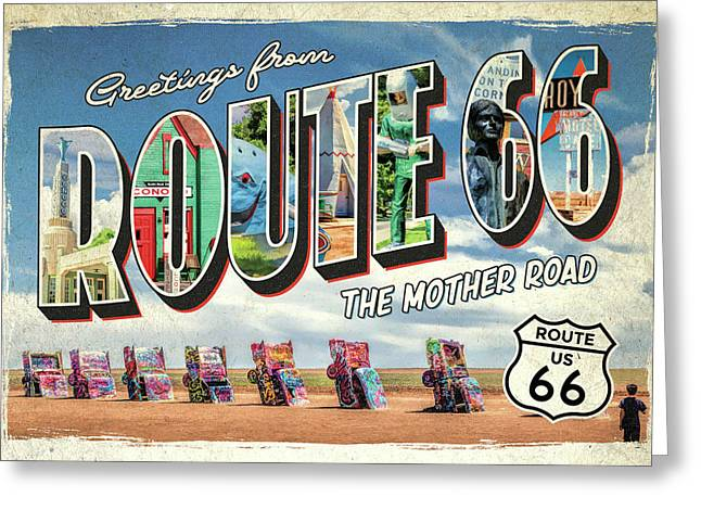 Greetings From Route 66 Greeting Card