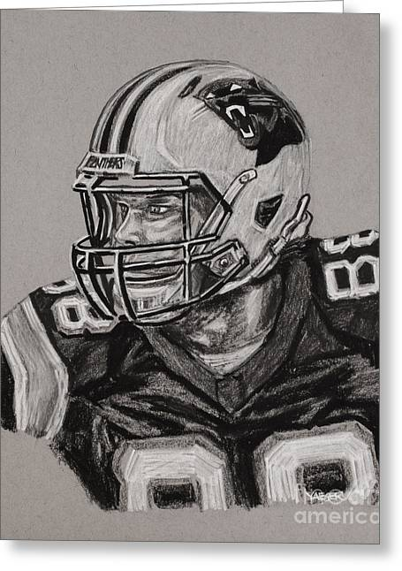 Greg Olsen Portrait  Greeting Card by Robert Yaeger
