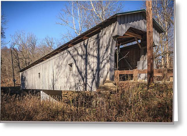Gregg Covered Bridge  Greeting Card by Jack R Perry