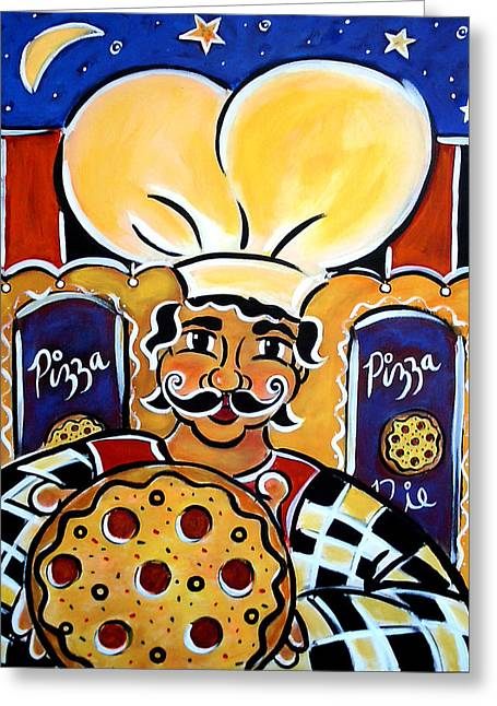 Gregorios Pizzeria Greeting Card