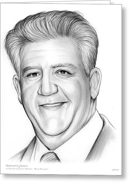 Gregory Jbara Greeting Card by Greg Joens