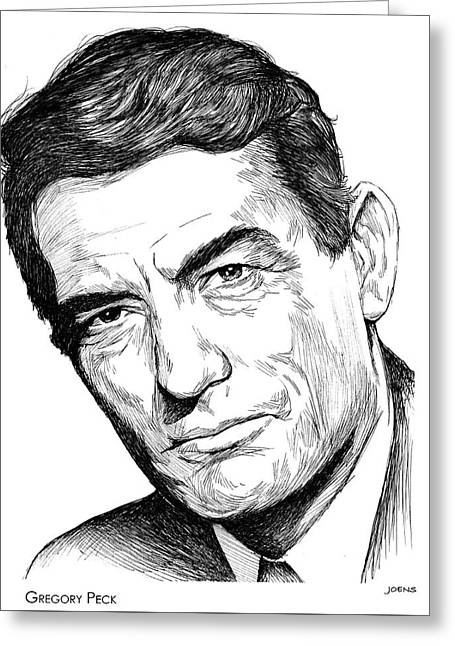 Gregory Peck Greeting Card by Greg Joens
