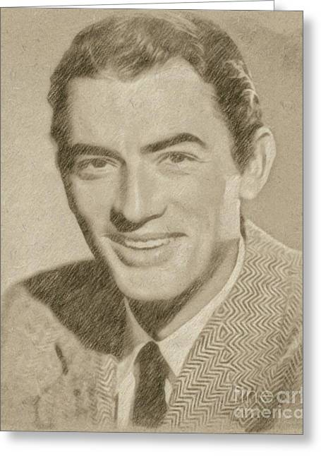 Gregory Peck Hollywood Actor Greeting Card by Frank Falcon