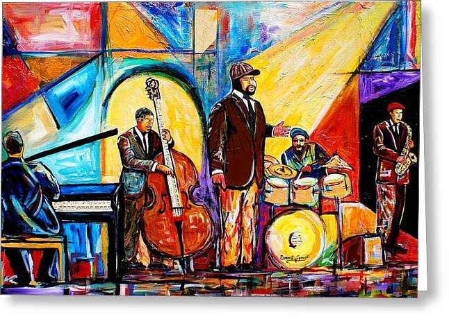 Gregory Porter And Band Greeting Card
