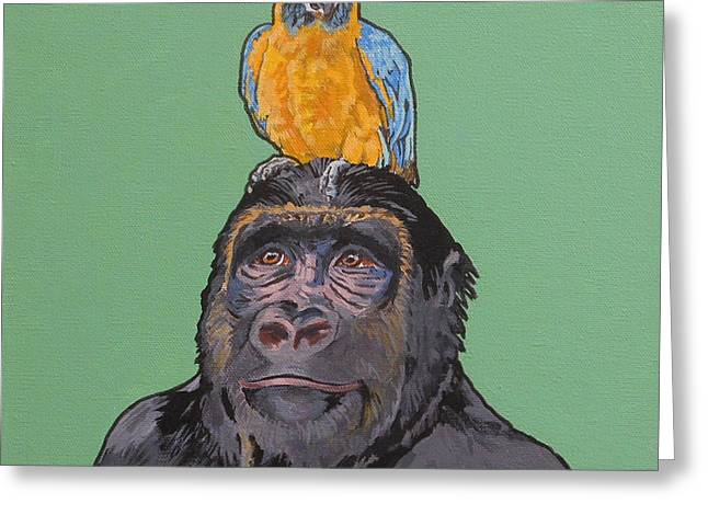 Gregory The Gorilla Greeting Card