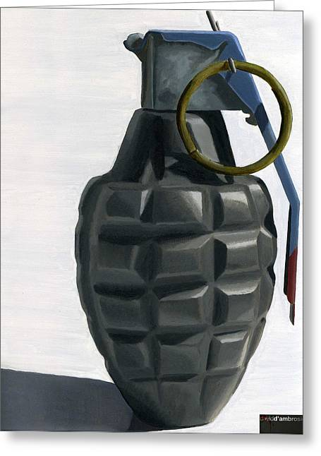 Grenade Greeting Card by David DAmbrosio