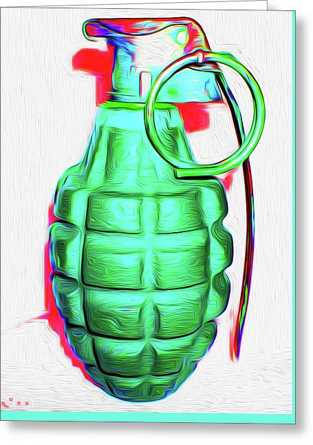 Grenade Green,a,nixo Greeting Card