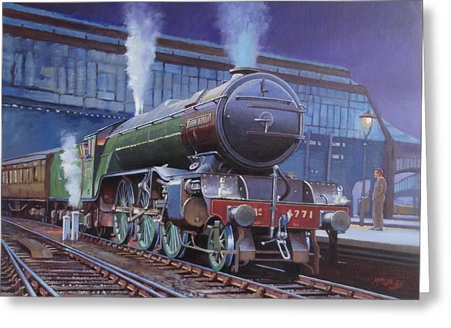 Gresley Green Arrow Class. Greeting Card