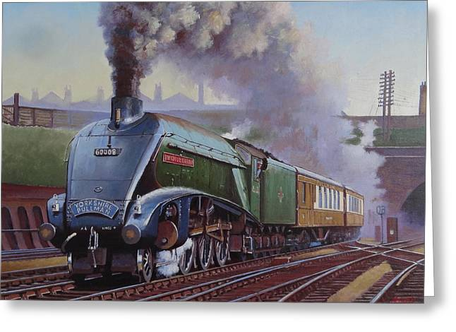 Gresley Pacific A4 Class. Greeting Card