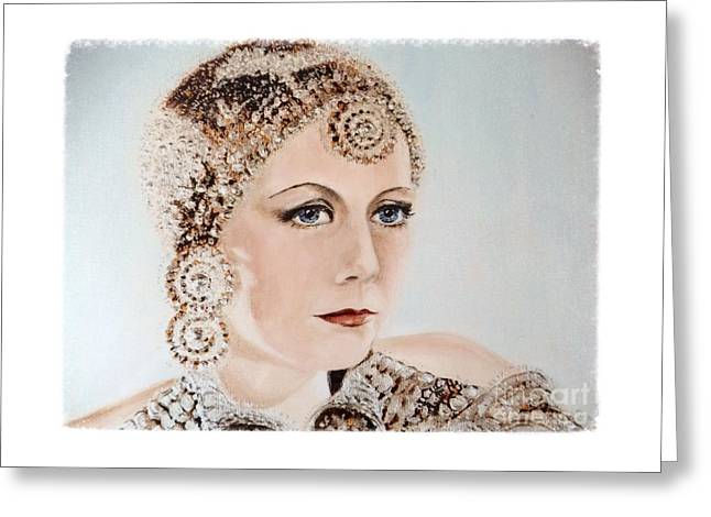 Greta Garbo As Matahari Greeting Card by Barbara Chase
