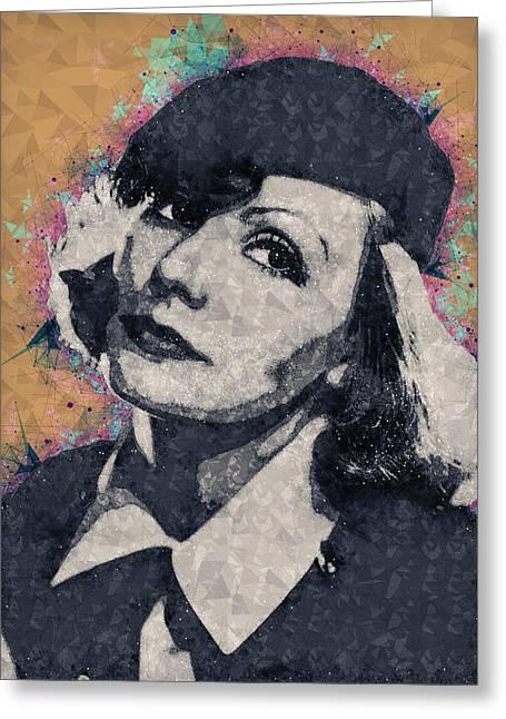 Greta Garbo Illustration Greeting Card