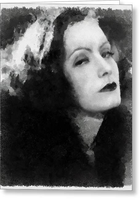 Greta Garbo Greeting Card
