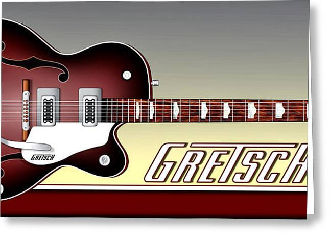 Gretsch Guitar Greeting Card by Anthony Citro