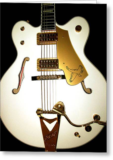 Gretsch White Falcon Greeting Card by Lourry Legarde