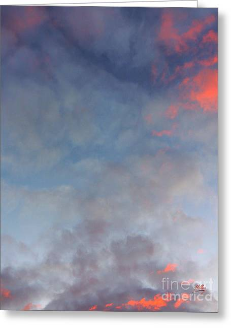 Pink Flecked Sky Greeting Card by Linda Hollis