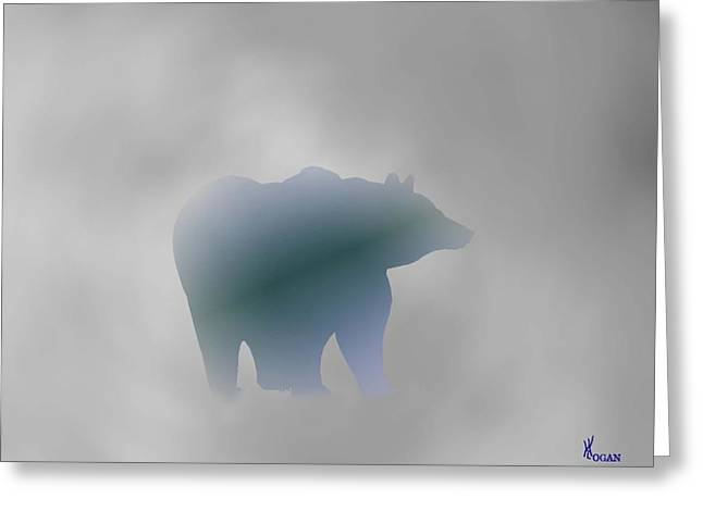 Grey Bear Greeting Card by Will Logan