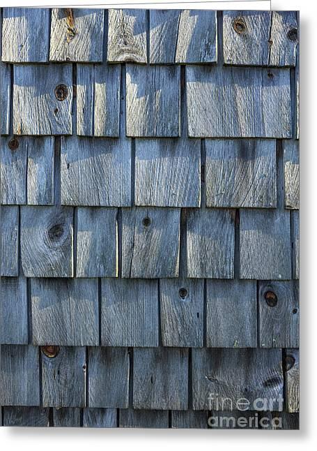 Grey Cedar Shingles On An Old Barn Greeting Card