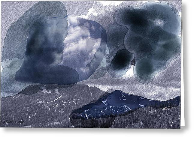 Grey Clouds Greeting Card