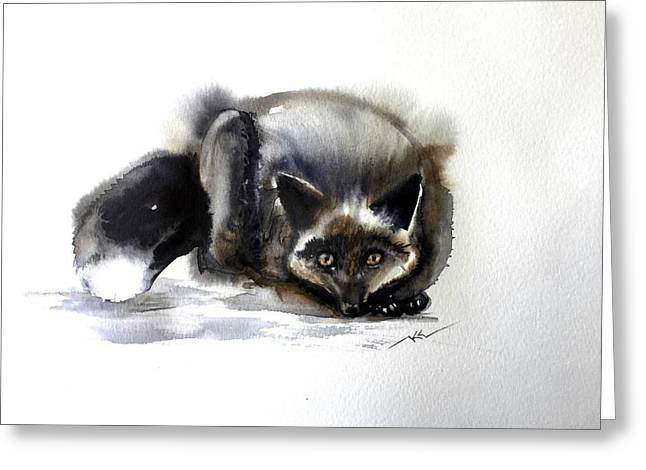 Grey Fox 1 Greeting Card