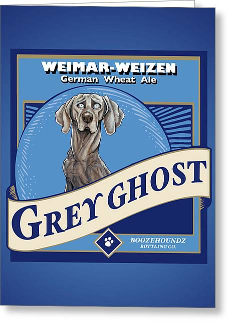 Grey Ghost Weimar-weizen Wheat Ale Greeting Card