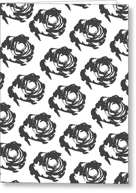 Grey Roses Greeting Card