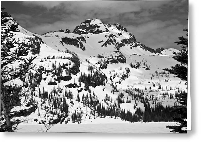 Grey Wolf Peak, Mission Mountains Greeting Card