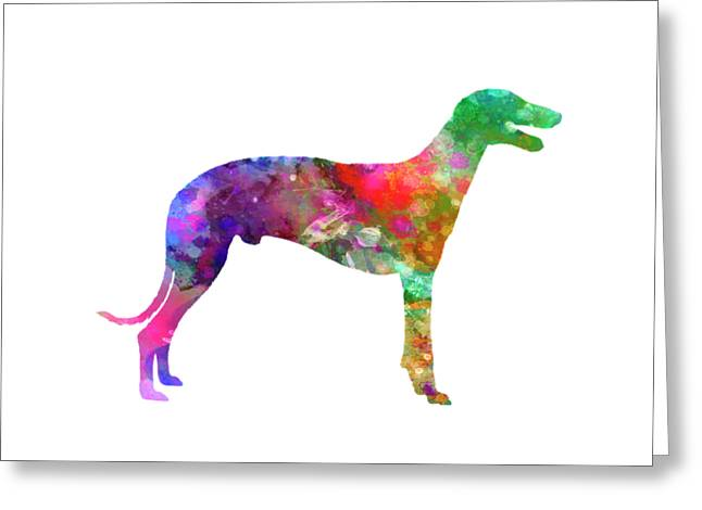 Greyhound In Watercolor Greeting Card