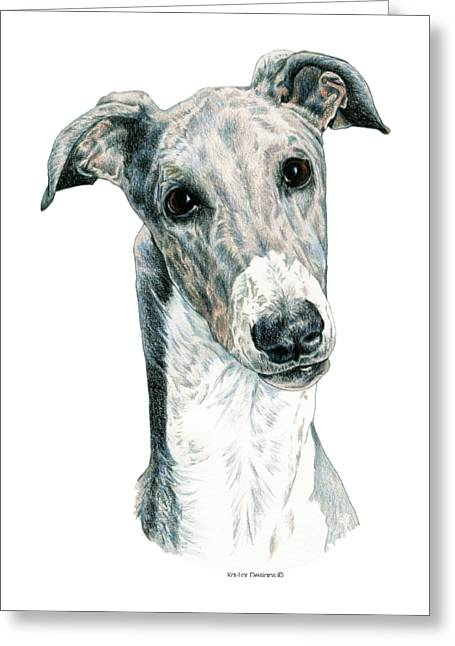 Greyhound Greeting Card by Kathleen Sepulveda
