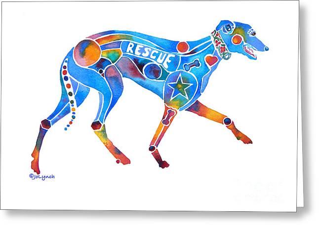 Greyhound Rescue Gffl Greeting Card