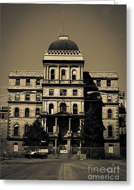 Greystone - Picking Up Or Dropping Off Greeting Card by Jeffrey Miklush